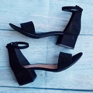 NWOT Rampage Black Mattie Dress sandals size 7.5